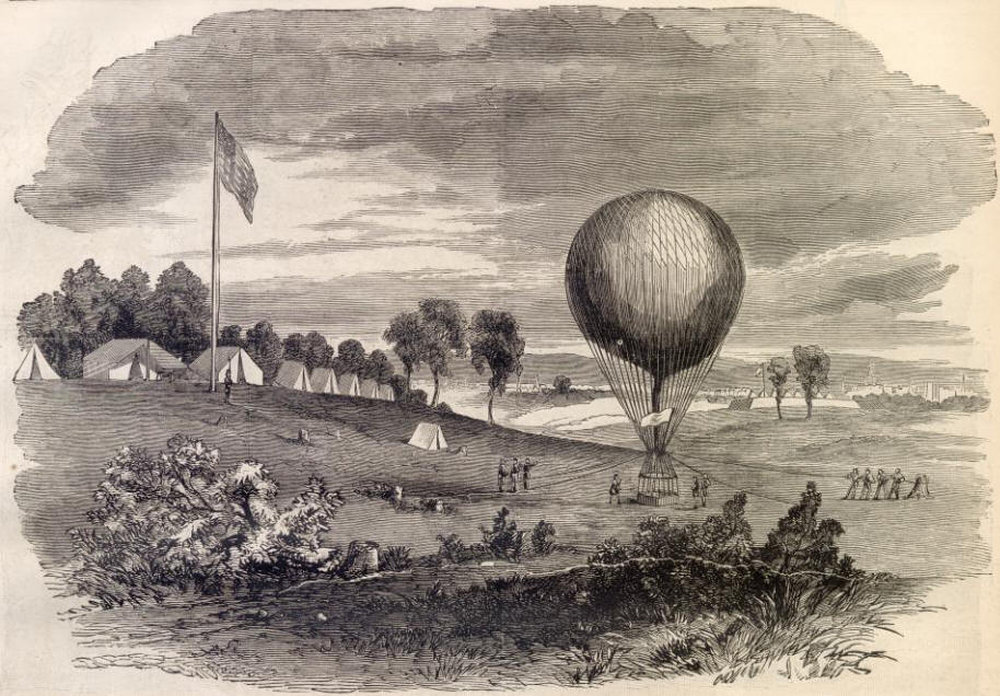 a history of the use of balloons for reconnaissance in the american civil war With the outbreak of the american civil war, president  in influencing  washington to consider the use of balloons  realized their value in aerial  reconnaissance and had lowe,.