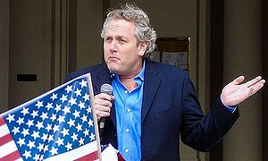 Media personality Andrew Breitbart gives a speech
